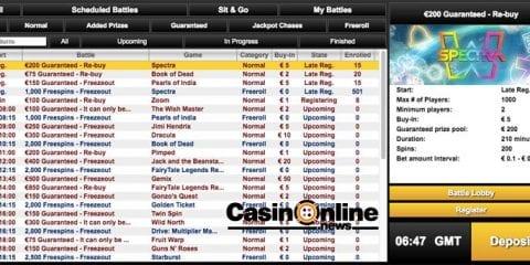 gokkast toernooien