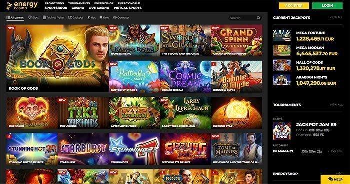energy casino homepage
