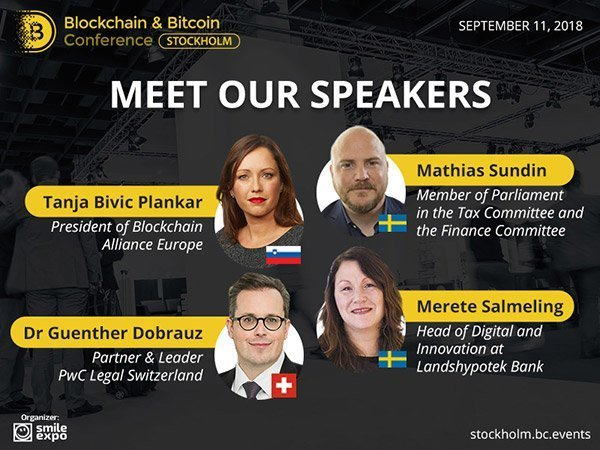 blockchain conference stockholm speakers