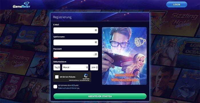 gametwist registrierung