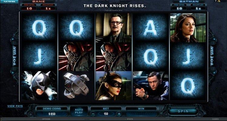 the dark knight rises slot
