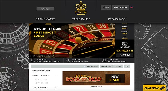 21 casino online uk