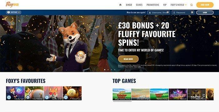 foxy bingo online uk