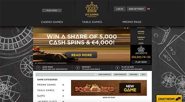 21 casino com