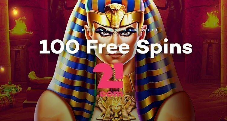 100 free spins 21 com
