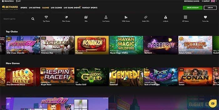 bethard casino homepage