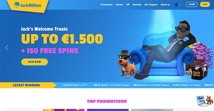 jack million homepage