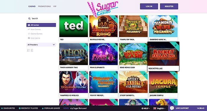 sugar casino homepage