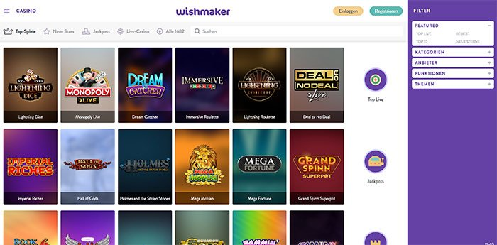 wishmaker casino deutsch