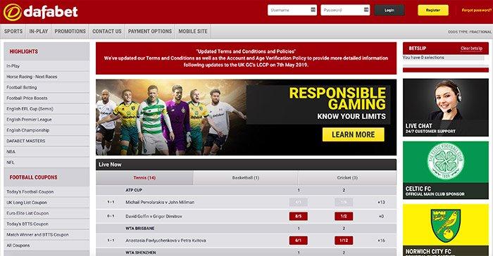 dafabet homepage