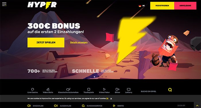 hyper casino deutsch homepage