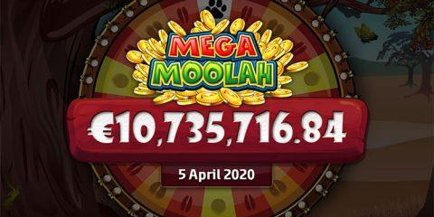 mega moolah 10 miljoen