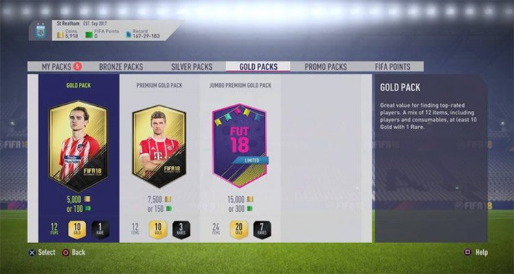 fifa lootboxes